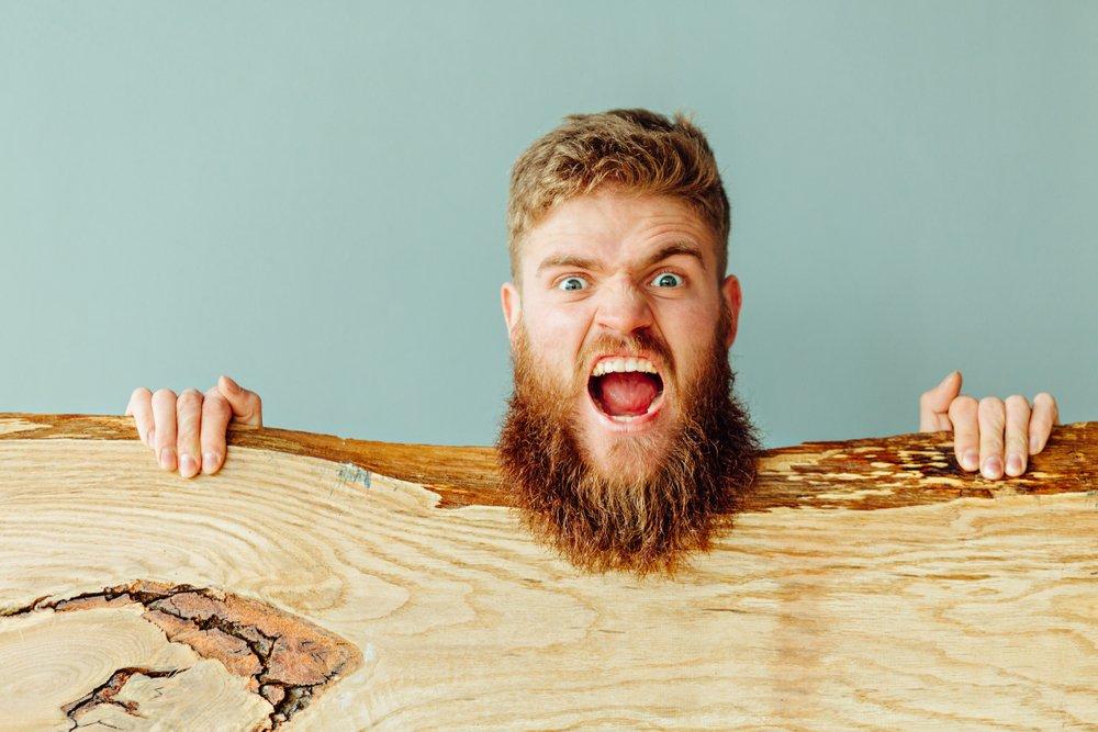wiry beard
