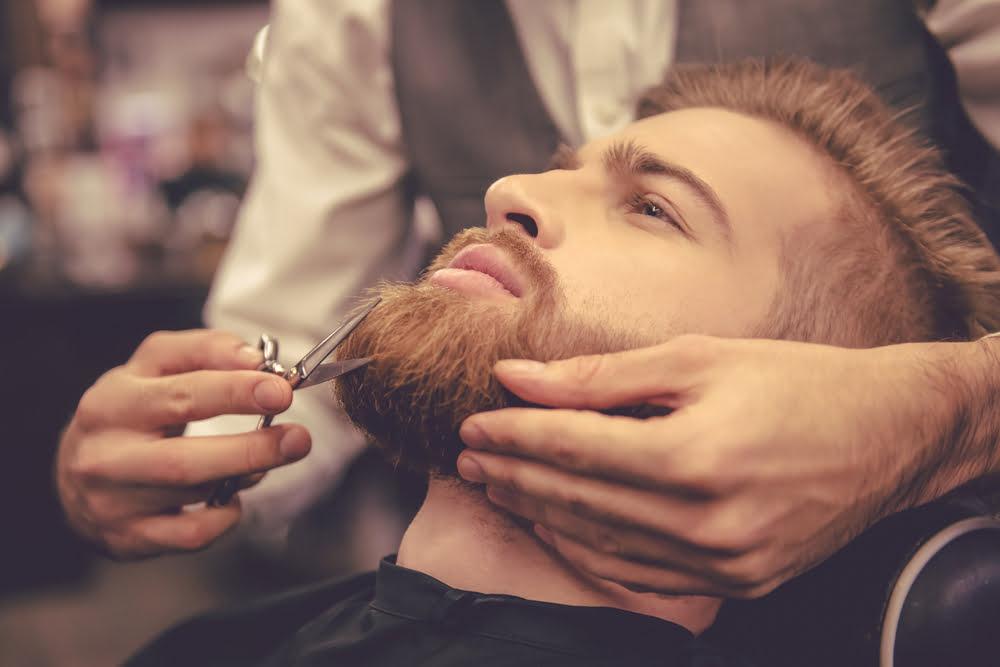How to trim an uneven beard